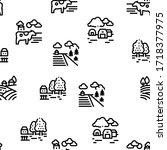 farming landscape seamless... | Shutterstock .eps vector #1718377975