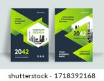 corporate book cover design... | Shutterstock .eps vector #1718392168