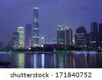 Small photo of GUANGZHOU, CHINA - MAY 16: Guangzhou International Finance Centre, IFC on May 16, 2013. IFC is a 103-storey, 438.6 m (1,439 ft) skyscraper at Zhujiang Avenue West in the Tianhe District of Guangzhou