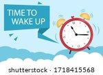 the concept of an alarm clock...   Shutterstock .eps vector #1718415568