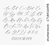 modern calligraphy alphabet...   Shutterstock .eps vector #1718416498