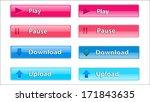 rectangular transparent button... | Shutterstock .eps vector #171843635