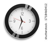 round wall clock with black... | Shutterstock . vector #1718460412