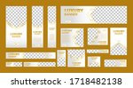 set of white luxury web banners ... | Shutterstock .eps vector #1718482138