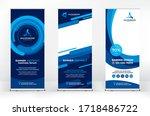 roll up design set  creative... | Shutterstock .eps vector #1718486722