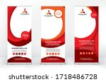 roll up design set  creative... | Shutterstock .eps vector #1718486728