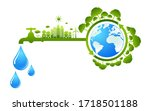 save water concept water day... | Shutterstock .eps vector #1718501188