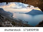 female rock climber against... | Shutterstock . vector #171850958