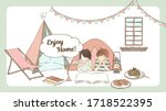 vector illustration of home... | Shutterstock .eps vector #1718522395