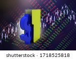 3d rendering dollar symbol with ...   Shutterstock . vector #1718525818