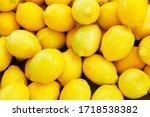 Colorful Display Of Lemons At...