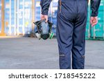 Technician Or Worker Man Hold...