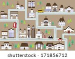 city map illustration with a