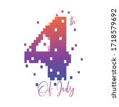 fourth of july background ... | Shutterstock .eps vector #1718579692