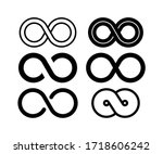 infinity set in abstract style... | Shutterstock .eps vector #1718606242