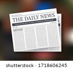 vector mock up of a blank daily ... | Shutterstock .eps vector #1718606245