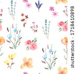 hand painted multicolored... | Shutterstock . vector #1718610898