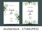set of decorative greeting card ... | Shutterstock .eps vector #1718619922