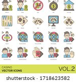 casino icons including... | Shutterstock .eps vector #1718623582