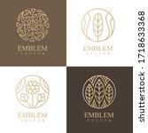nature logo set. floral logo.... | Shutterstock .eps vector #1718633368