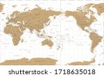 world map   pacific china asia... | Shutterstock .eps vector #1718635018