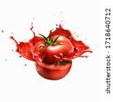Sliced Tomato In Half In Sauce  ...