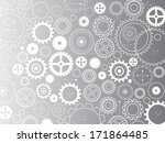 background consisting of gears... | Shutterstock .eps vector #171864485