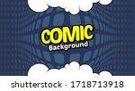 retro comic background halftone ... | Shutterstock .eps vector #1718713918