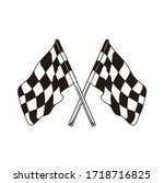 race flag icon  simple design... | Shutterstock .eps vector #1718716825