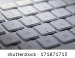 computer keyboard with white... | Shutterstock . vector #171871715