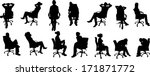 vector silhouettes of... | Shutterstock .eps vector #171871772
