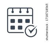 event schedule icon vector... | Shutterstock .eps vector #1718718565