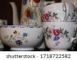 White  Floral China Tea Set Of...