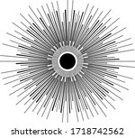 mystic eye are on the circle... | Shutterstock .eps vector #1718742562