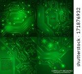 set of technology backgrounds... | Shutterstock .eps vector #171876932