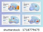 set of web page design... | Shutterstock .eps vector #1718779675