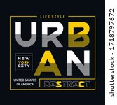 nyc urban district typography... | Shutterstock .eps vector #1718797672