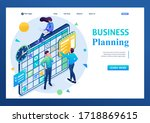 team working on the business...   Shutterstock .eps vector #1718869615