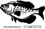 Bluegill Fishing Logo. A Nice and Unique Vector of Bluegill fish.  Great for Your Bluegill fishing Activity, use this for Shirts, Decals, Logo Etc.