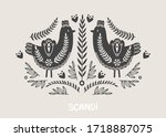 illustration in scandinavian...   Shutterstock .eps vector #1718887075