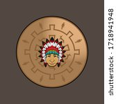 chubby warriors. apache knight... | Shutterstock .eps vector #1718941948