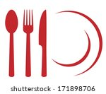 restaurant symbol with plate ... | Shutterstock .eps vector #171898706