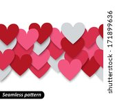 colorful hearts seamless border.... | Shutterstock .eps vector #171899636