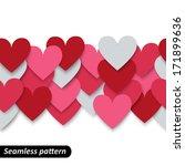Colorful Hearts Seamless Borde...