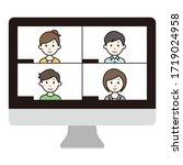 vector illustration of video...   Shutterstock .eps vector #1719024958