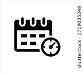 schedule icon on white... | Shutterstock .eps vector #1719035248