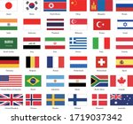 list of 36 kinds of national... | Shutterstock .eps vector #1719037342