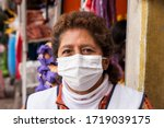 Woman In Repiratory Mask Durin...