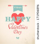 happy valentine's day hand... | Shutterstock .eps vector #171906896