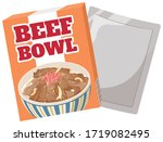 instant food beef bowl  gyudon  ... | Shutterstock .eps vector #1719082495